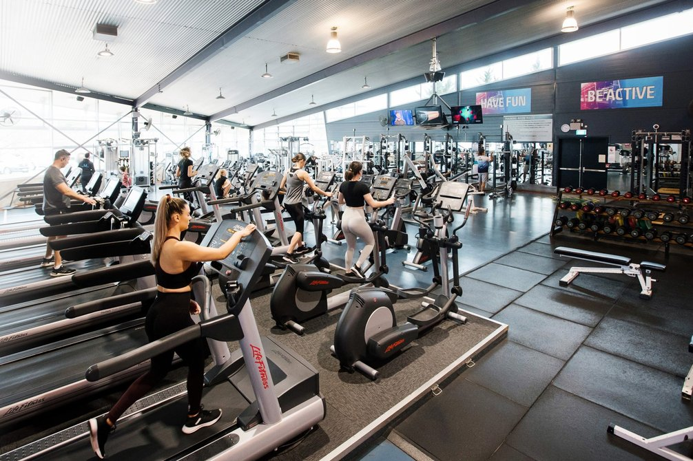 Students use weights, treadmills and crossfit machines in the fitness centre.