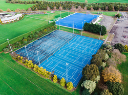 Aerial photo of the outdoor courts at Manawatū Recreation Centre