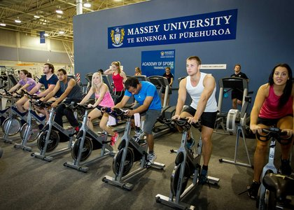 People using stationary bikes in Auckland Recreation Centre