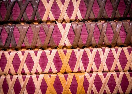 Close-up of traditional Māori weaving