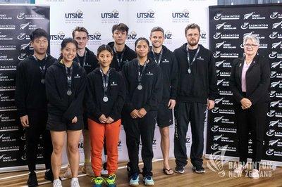 Massey University 2020 mixed badminton team