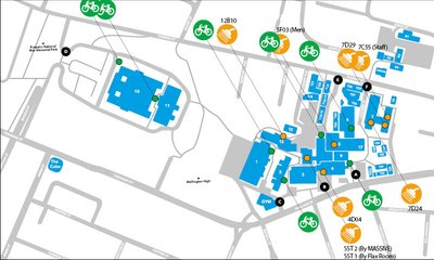Cycle racks and shower map for Wellington