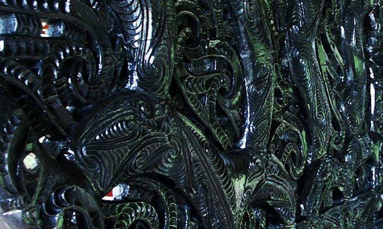 Detail of a pounamu carving