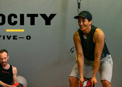 People participating in Velocity Five-O high-intensity training