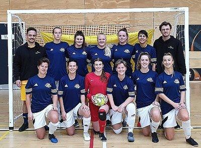 2019 women's silver medal winning futsal team