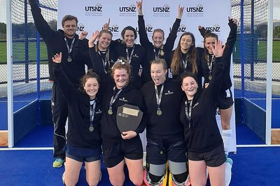 The Massey University women's hockey team won gold in the 2019.
