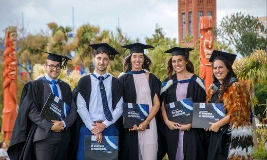Zoology graduates celebrating