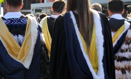 Small group wearing academic dress